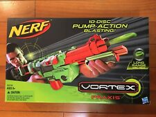 NEW Nerf Vortex Praxis 10-Disc Pump-Action Blaster Shooter Pump Long Range Gun