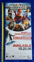 Video Game Store Display Sign MARVEL ULTIMATE ALLIANCE 2006 Activision Promo