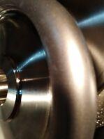 "CONVEX 600G.- 6"" x 1"" Electroplated Diamond Hard Wheel Polishing Lapidary Glass"