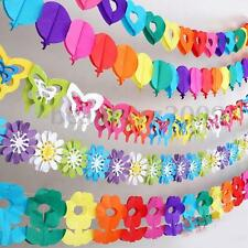 Rainbow Colourful Hanging Paper Chain Flower Wedding Birthday Party Decoration