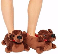 Brand New Womens Girls Novelty Character sausage Dog Animal Slippers Ladies 3-4