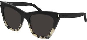 Saint Laurent KATE SL 214 Black Havana/Dark Grey 55/20/145 women Sunglasses