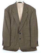 Men's Oscar de la Renta Brown Sport Coat Blazer Jacket 44R Houndstooth Wool
