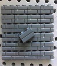 Lego 1x2 Bricks Dark Gray Grey Modified With Masonry Profile Wall Castle 25pcs