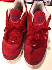 LeBron James Nike 7 low Red Suede Shoes, Size 8.5