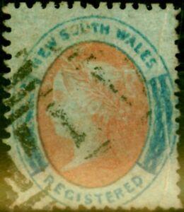 N.S.W 1860 (6d) Orange & Prussian Blue SG119Var Bluish Paper Pre-printing Pap...