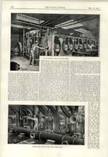 1891 système télégraphique Vannes Grille signaux Pumping Engine boilerhouse