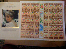 DIANA THE PEOPLEs PRINCESS with FULL SHEET 13 X 13 -MNH -VF-OG  FACE VALUE $ 18