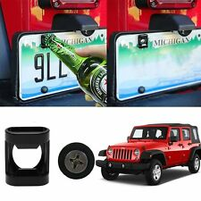 US Bottle Opener Beer Soda Cap License Plate Mount Fun Summer Jeep Stainless