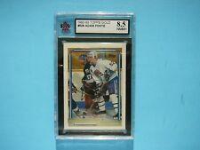 1992/93 TOPPS NHL HOCKEY GOLD CARD #528 ADAM FOOTE ROOKIE KSA 8.5 NM/MT+ SHARP+