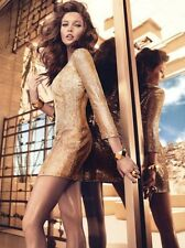 NWT Guess by Marciano Sasha gold Sequin Jacket dress size S