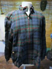 Vtg Pendleton All Wool. Zipper Jacket. Plaid Check. Womans XL. USA