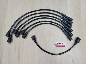 Chevy 216 235 8mm Cloth Covered Spark Plug Wire Set Vintage Wires Inline 6 Blue