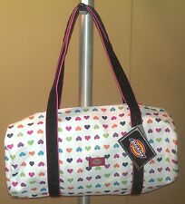 Dickies Diana Multi Color Heart Mini Duffle Purse Shoulder Bag~NEW Tags~6364-126