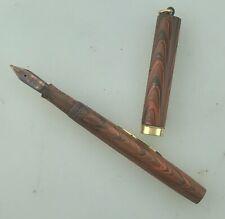 Waterman 52 1/2V Ripple Fountain Pen New Sac Very Clean Firm Flex