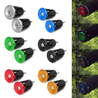 1Pair Bike MTB Road Bicycle Handlebar Grips Handle Bar Aluminum Cap End Plugs