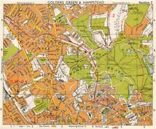 NW LONDON. Golders Green Hampstead Child's Hill Cricklewood. BACON 1968 map