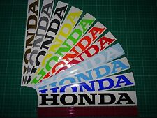"2 x HONDA Large Cut Text (12"" 300mm ) Vinyl Decals Stickers Swingarm Bellypan"