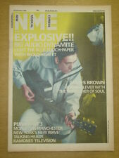 NME 1986 FEBRUARY 15 BIG AUDIO DYNAMITE JAMES BROWN RAMONES TALKING HEADS PUNK