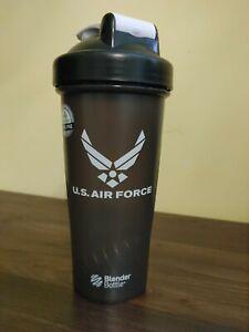 BlenderBottle U.S. Air Force Shaker Bottle, 20oz - Black