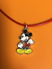 Mickey Mouse Charm Rope Cord Necklace/ Pendant/Charm/Fashion/Mickey Mouse/Cute
