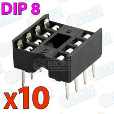 10x Zocalo integrado 8 PINs DIP 8 Socket doble contacto DIP8