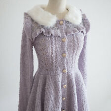 LIZ LISA Peplum Lux Sweater Cardigan Dress Romantic Hime Lolita Kawaii Japan 109