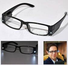 Cool Unisex Dual LED Safety Glasses With LED Light Night Vision Reading Glasses