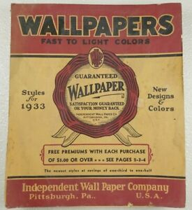 1933 Wallpaper Sample Book 87 Pgs Independent Wallpaper Co Pittsburgh Designer