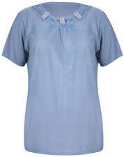 Camisas y tops de mujer blusa de color principal azul de seda