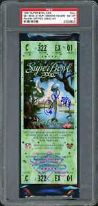 "Desmond Howard Autographed Super Bowl Ticket Packers ""SB MVP"" PSA/DNA 20009923"