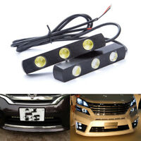 2Pcs Car Waterproof High-power 3 LED Daytime Running Light DRL Fog Driving Lamp
