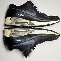 NIKE AIR MAX 90 Mens 9.5 Sneakers Black Anthracite White Vtg Shoes 325018-057