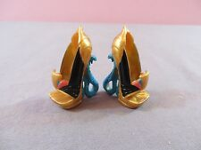 MATTEL MONSTER HIGH NEFERA DE NILE CAMPUS STROLL GOLD SNAKE SHOES HEELS