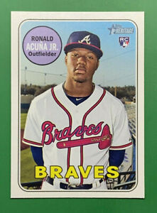 2018 Topps Heritage RONALD ACUNA Rookie RC #580