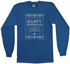 Threadrock Kids Happy Hanukkah Ugly Sweater Youth L/S T-shirt Jewish Humor