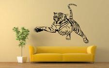 Wall Vinyl Sticker Decal Mural Room Design Art Tiger Wild Cat Animal Pet bo2268