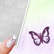 Schablonen für Airbrush und Nailart SVG33 Butterfly Schmetterling Fliege 80x