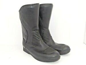 Men's Black Leather Bata Slip On Motorcycle Boots Aquaboot Size 11