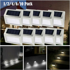 1-10X Solar Powered LED Deck Lights Garden Stairs Step Fence Lamp Path Decor