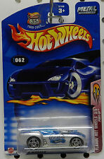 2003 62 062 3 FLAMIN SERIES FORD MUSTANG PONY UP DRAG RACE CAR SILVER HOT WHEELS