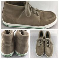 Stussy  Dean 038098  Mens Size 13 M Tan High Top Lace Up Shoe leather upper