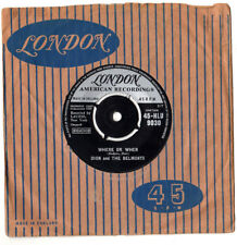 """""""RARE"""".DION & BELMONTS.WHERE OR WHEN / THAT'S MY DESIRE.UK ORIG 7"""" & CO/SL.VG"""