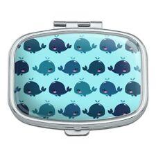 Cute Kawaii Whales Pattern Rectangle Pill Case Trinket Gift Box
