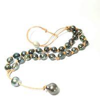 Splendide collier de 31 véritables perles de TAHITI