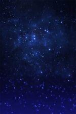 5x7ft Dreamy Starry Photography Studio Background Dark Blue Night Sky Backd