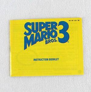 Nintendo Super Mario Bros 3 Instruction Booklet 1990 NES Vintage