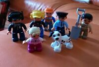 7 LEGO DUPLO FIGURES POLICE AIRPORT ZOO KEEPER CONSTRUCTION DOG NICE CONDITION 1
