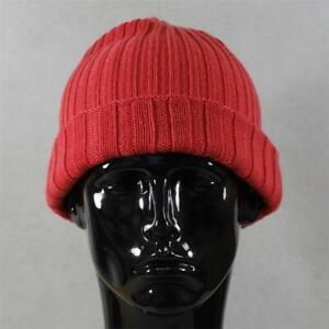 Mens adidas Originals Ess Beanie Hat Red (SJH) RRP £9.99