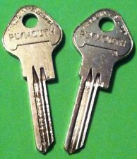 NOS PLYMOUTH KEY BLANKS by YALE 1935-42 TRUNK  Set of Two (2) Branded VINTAGE